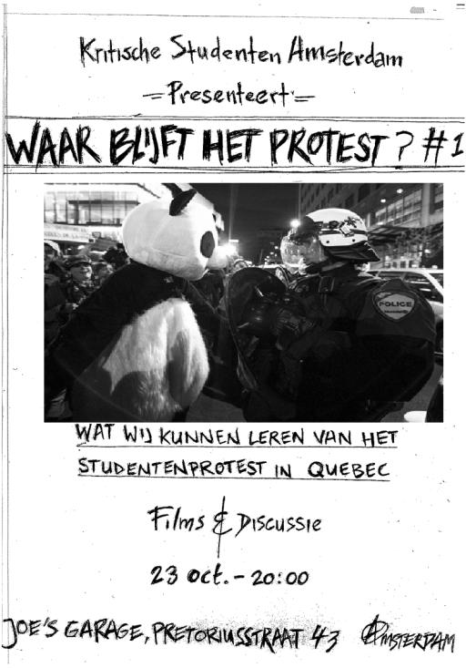 WaarBlijftHetProtest#1Quebec